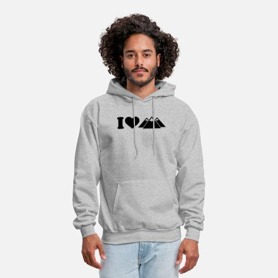 Love Hoodies & Sweatshirts - i love to - Men's Hoodie heather gray