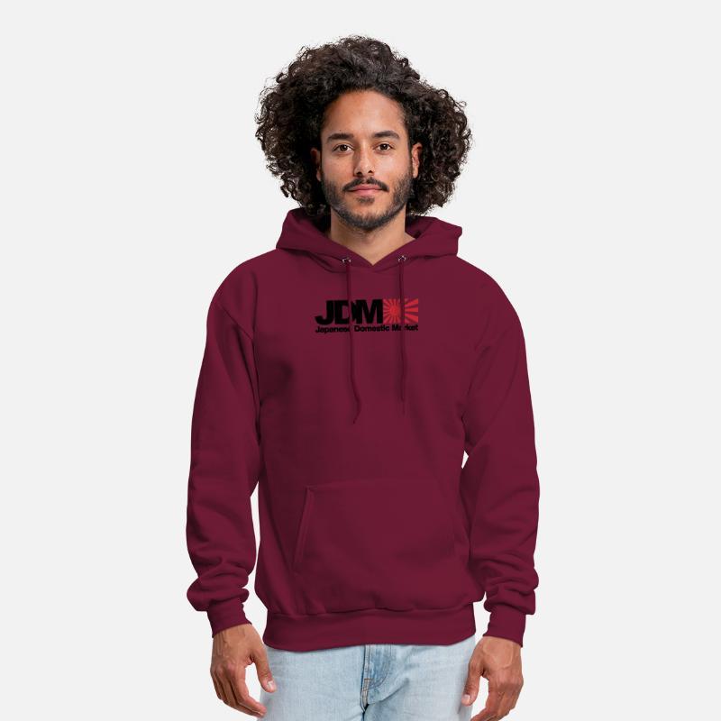 b9d0193bf Japanese Domestic Market JDM Logo Men s White NE Men's Hoodie | Spreadshirt
