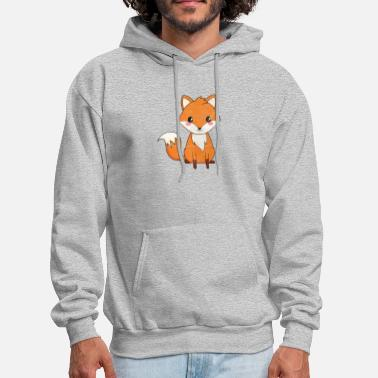 Character Cute Cartoon Animals - Fox - Men's Hoodie