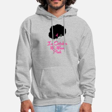 Breast Cancer Walk Breast Cancer Awareness Black Woman - Men's Hoodie