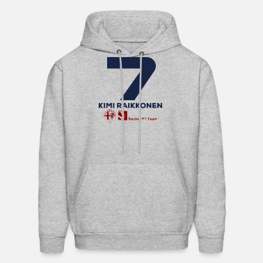 c92e58b1c Kimi Raikkonen Sauber F1 2019 Unisex Two-Tone Hoodie | Spreadshirt