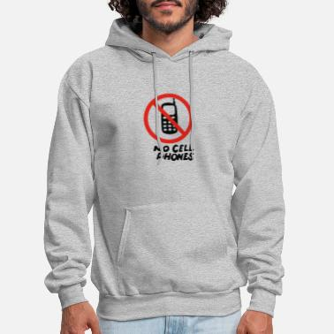 Cell No Cell Phones - Men's Hoodie