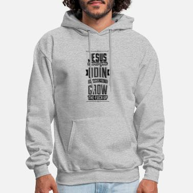 Odin Jesus loves you – Odin demands you grow the f*ck - Men's Hoodie