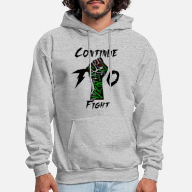 Black Power Continue To Fight - Men's Hoodie