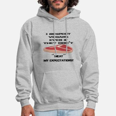 Cutter Vegan, Meat, Expectations - Men's Hoodie