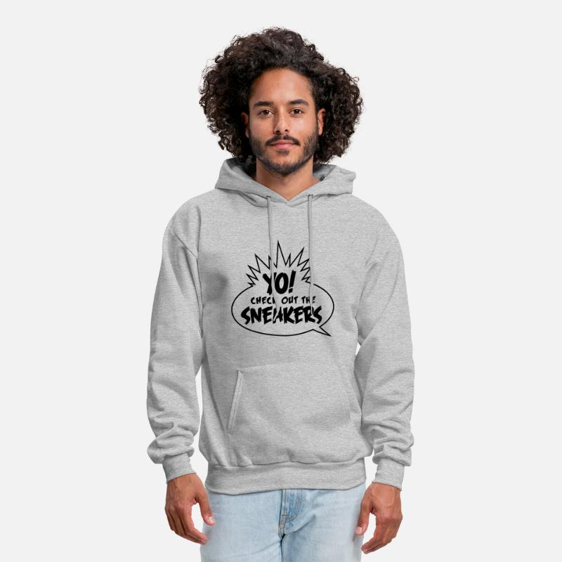 Sneakers Hoodies & Sweatshirts - yo check out the sneakers - Men's Hoodie heather gray
