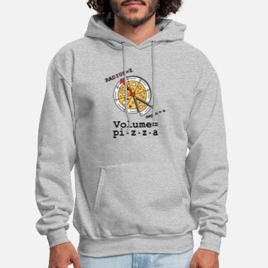 Volume Pizza Equation Funny T-shirt - Men's Hoodie