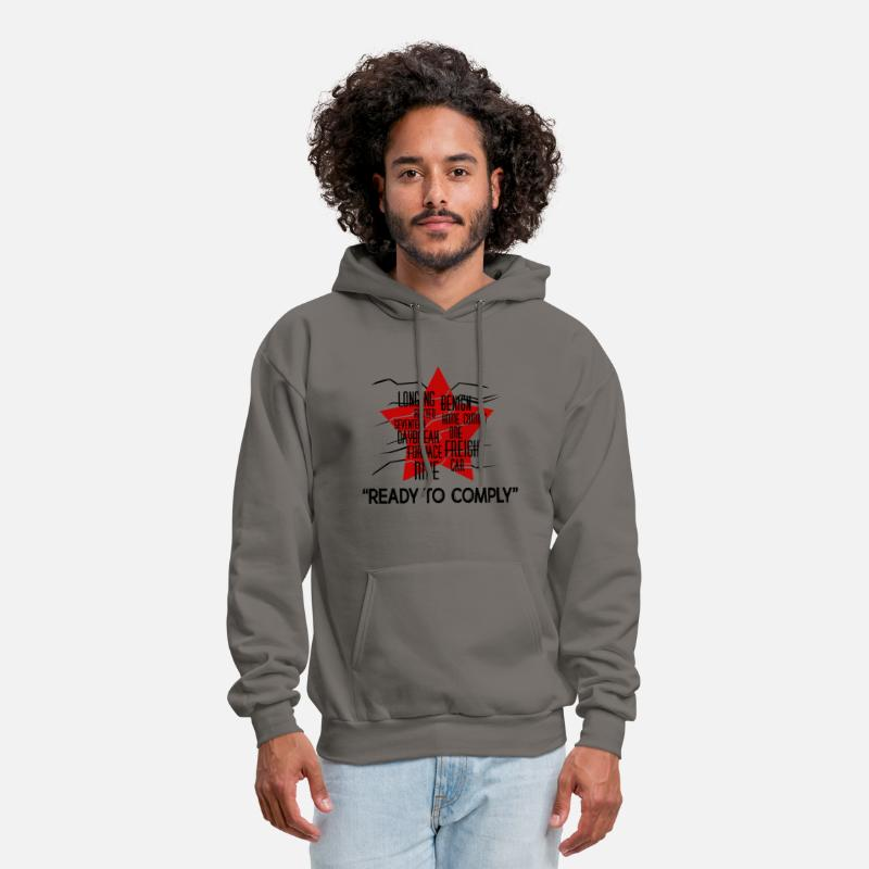 Hoodie Ready to Comply Winter Funny Soldier