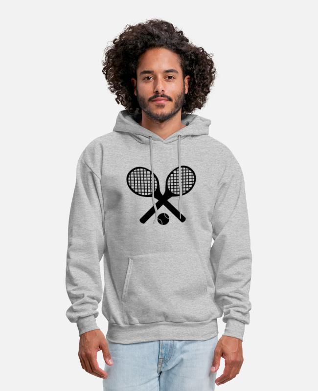 Tennis Hoodies & Sweatshirts - Tennis Rackets and Ball - Men's Hoodie heather gray