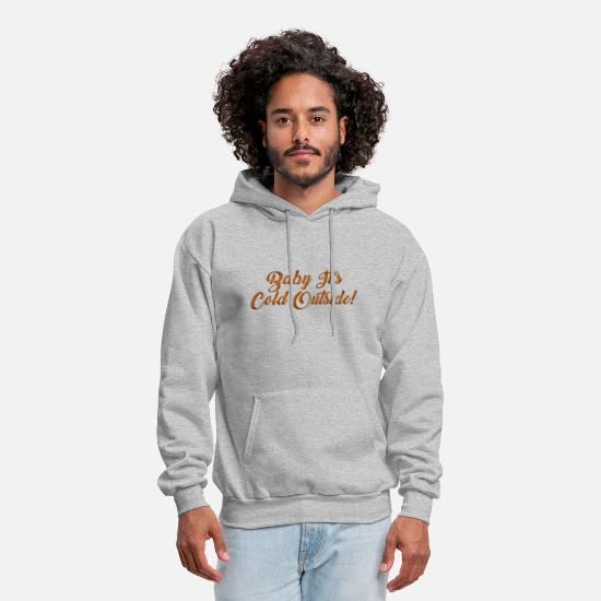 Snowflake Hoodies & Sweatshirts - Cold Coldness Frost Snow Christmas Slogan Funny - Men's Hoodie heather gray