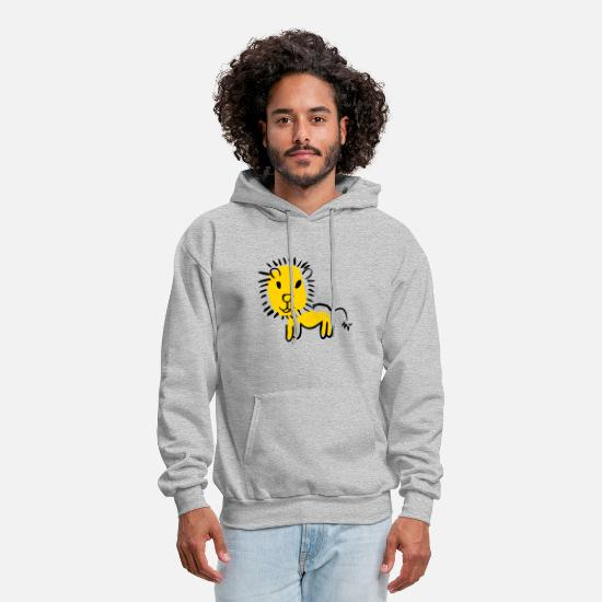 Birthday Hoodies & Sweatshirts - Sweet powerful lion - Men's Hoodie heather gray