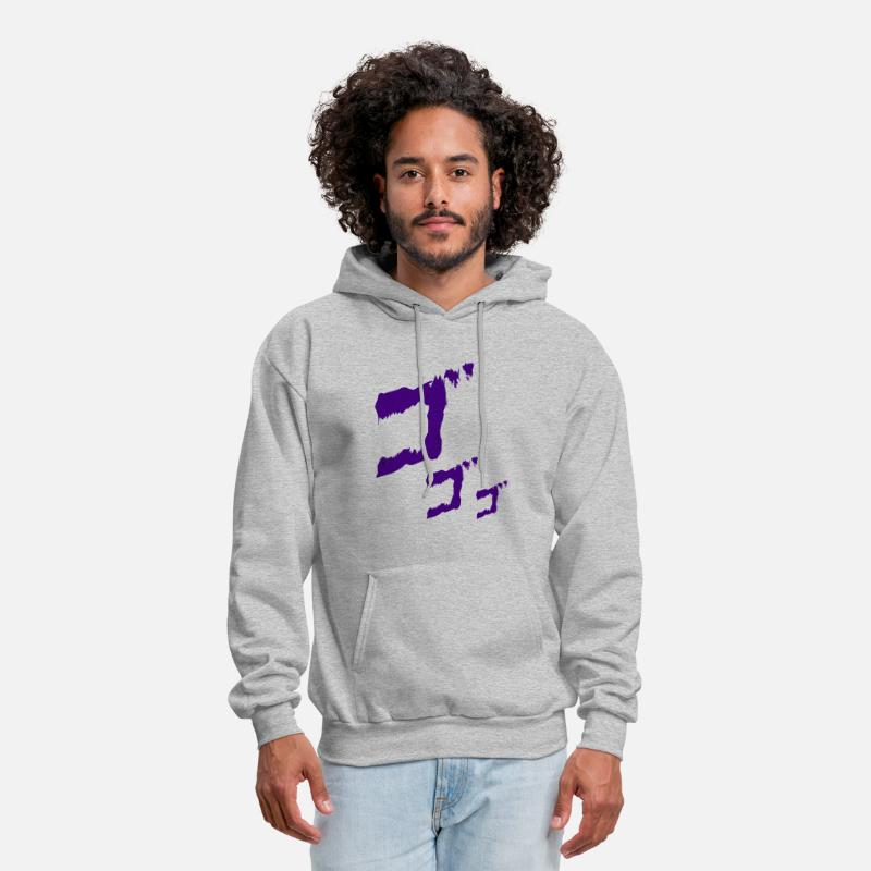 Jojo MENACING ゴゴゴ Jojos Bizarre Adventure Unisex Hoodie Short Sleeves Shirt VNeck TShirt Sweatshirt For Mens Womens Ladies Kids