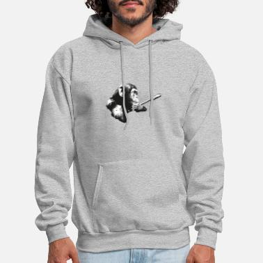 Smart Monkey Paint Motiv - Men's Hoodie