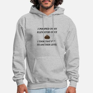 Pooped In An Elevator! - Men's Hoodie