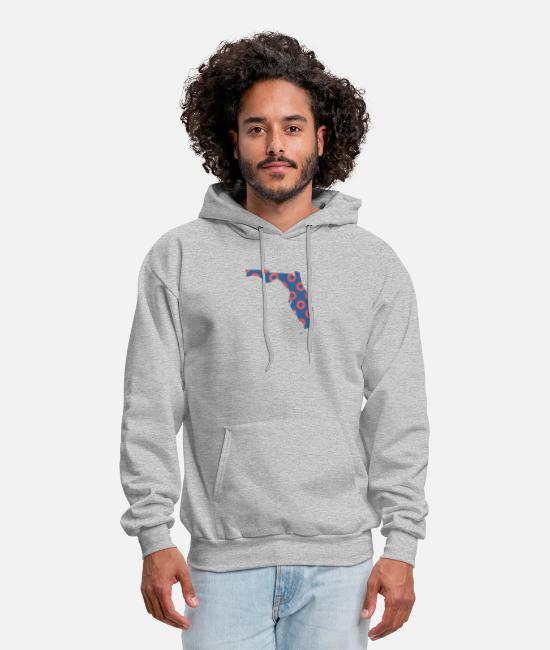 Donut Hoodies & Sweatshirts - Phish Fishman Donut Florida Phanart - Men's Hoodie heather gray
