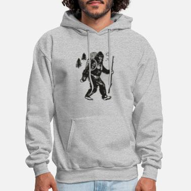 Mens Bigfoot Camping - Men's Hoodie