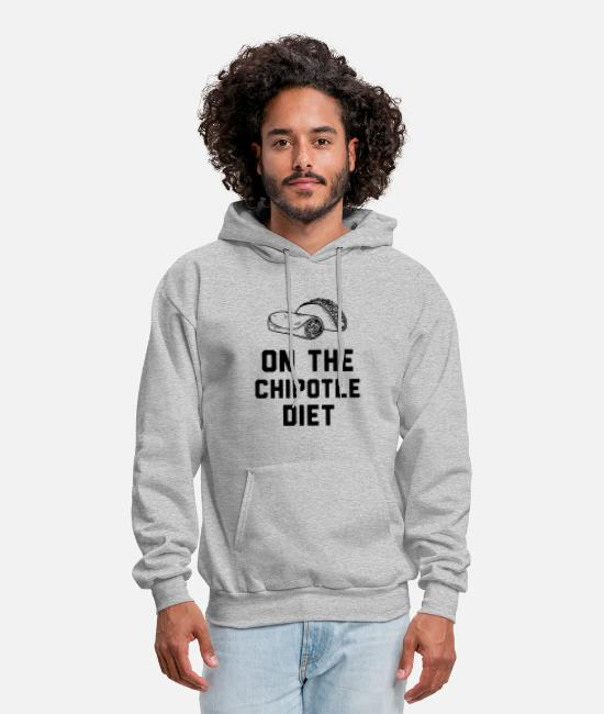 Heart Hoodies & Sweatshirts - Chipotile Diet - On The Chipotile Diet - Men's Hoodie heather gray