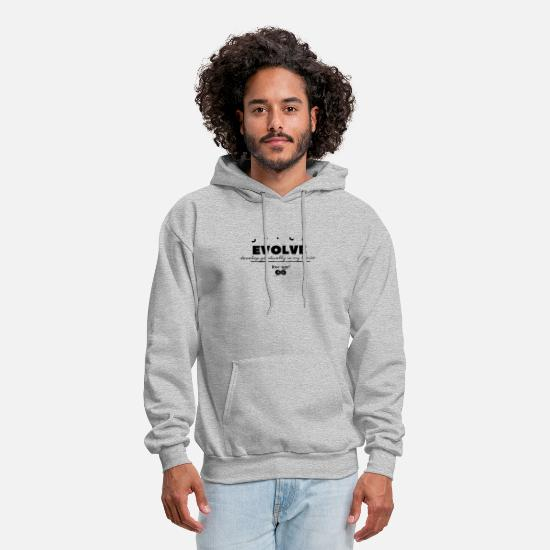 Red Hoodies & Sweatshirts - Roc-que infinity brand Evolve - Men's Hoodie heather gray