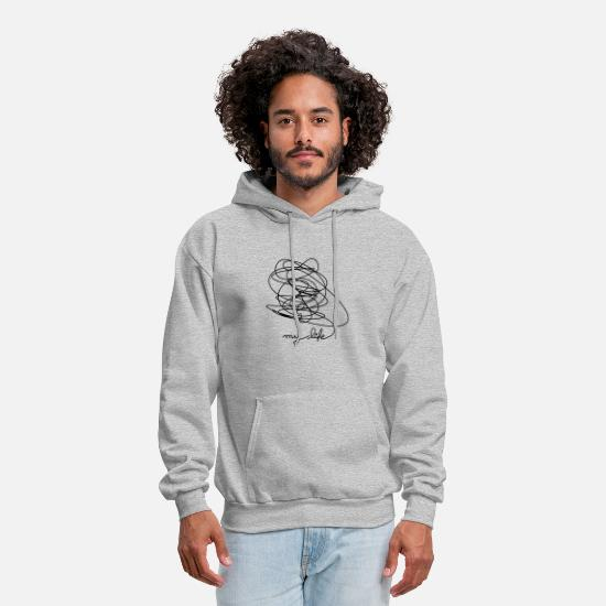 Gift Idea Hoodies & Sweatshirts - My Life - Men's Hoodie heather gray