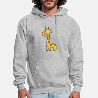 Cartoon cartoon giraffe - Men's Hoodie