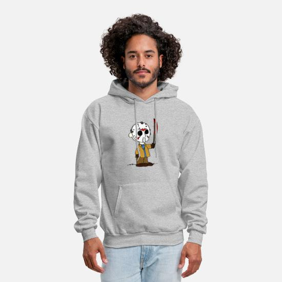 Brown Hoodies & Sweatshirts - Charlie Brown - Men's Hoodie heather gray