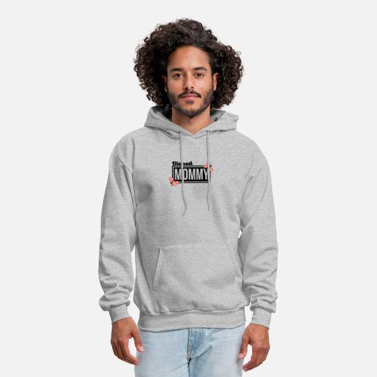 Mother's Day Hoodies & Sweatshirts - Blessed Mommy Flower T Shirt - Men's Hoodie heather gray