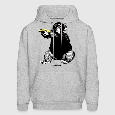 MONKEY SHOOTING BANANA - Men's Hoodie