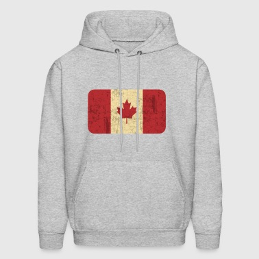 Grungy Flag of Canada - Men's Hoodie