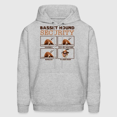 Basset Hound Security Shirt - Men's Hoodie