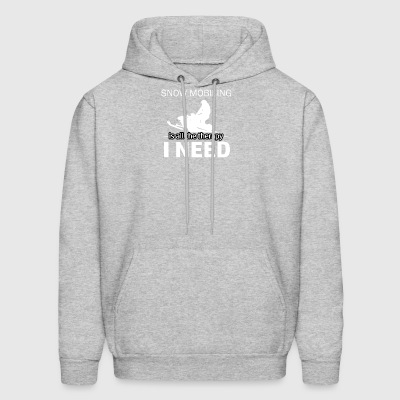 Snow Mobiling is my therapy - Men's Hoodie