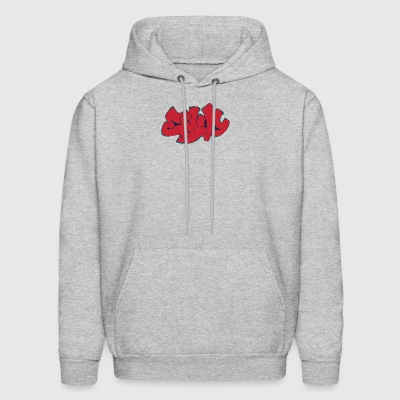 e_graffiti_dark_red - Men's Hoodie