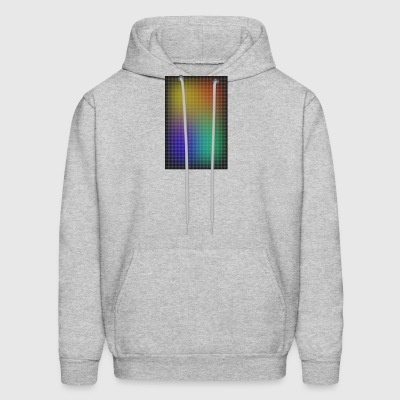 gradient colored grid out of points - Men's Hoodie