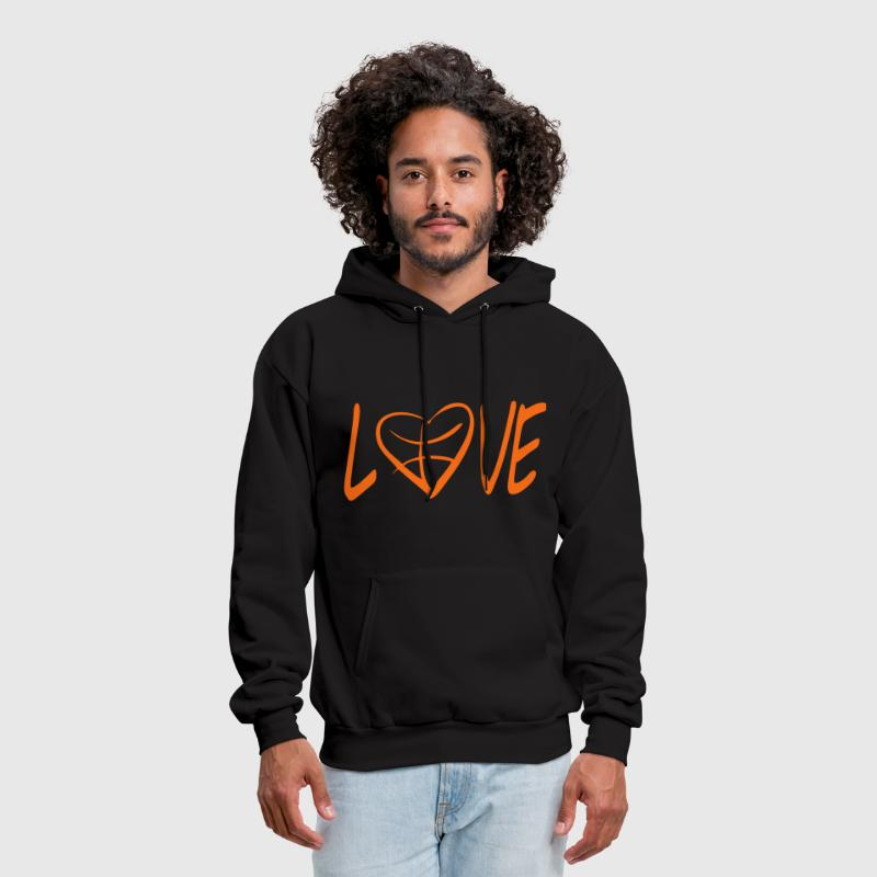 love basketball  - Men's Hoodie