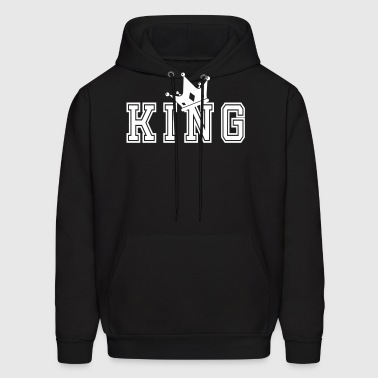 Valentine's Day Matching Couples King Crown - Men's Hoodie