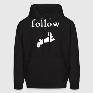 follow the white rabbit-hoodie - Men's Hoodie