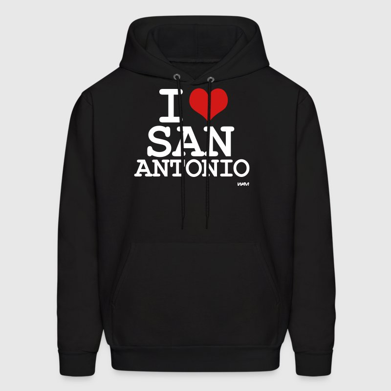 i love san antonio by wam - Men's Hoodie