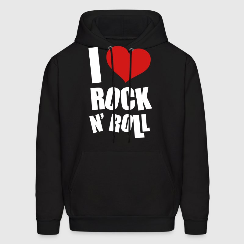 I Love Rock N Roll - Men's Hoodie