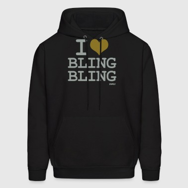 i love bling bling by wam - Men's Hoodie