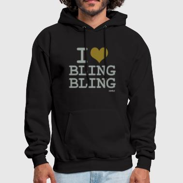 Bling Bling i love bling bling by wam - Men's Hoodie