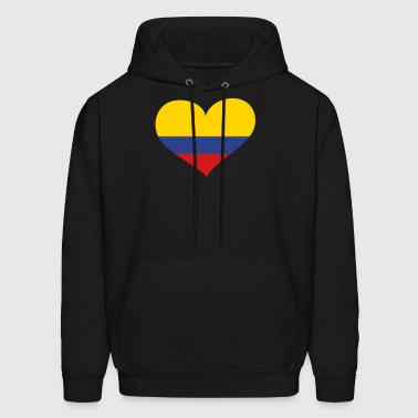 Colombia Heart; Love Colombia - Men's Hoodie