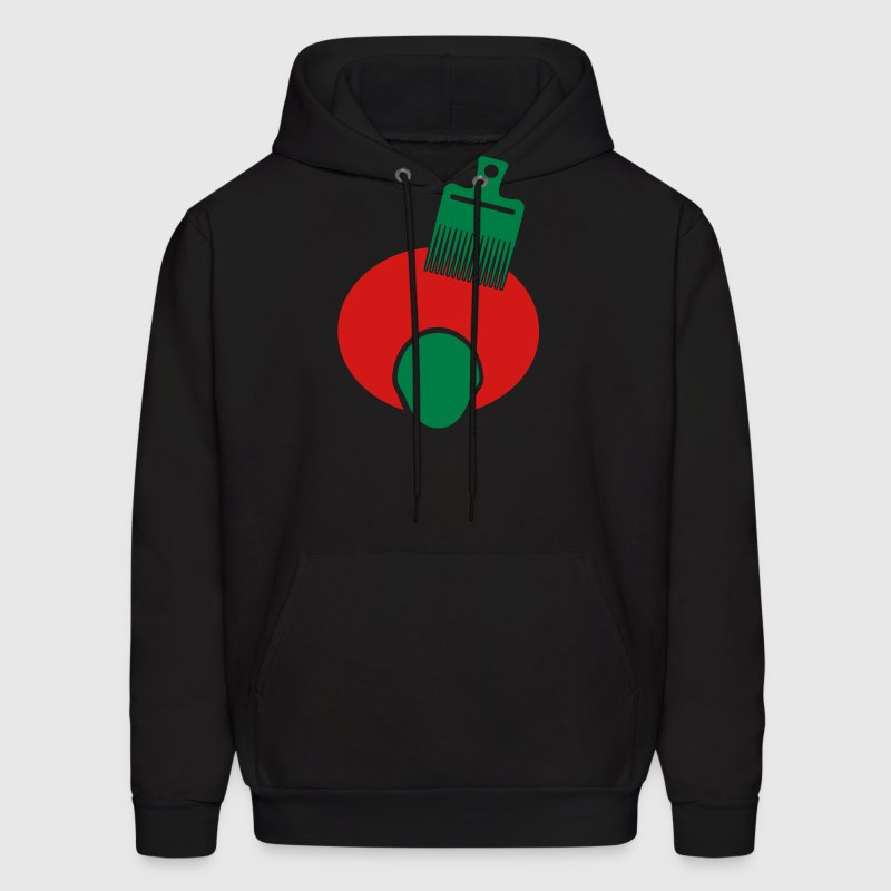 Afro, Pick, And Face--3 Color - Men's Hoodie