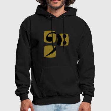 Clef Bass clef for bass player and bass player shows you her bass player and musician - Men's Hoodie