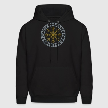 Helm of awe, Aegishjalmur, protection symbol, rune - Men's Hoodie