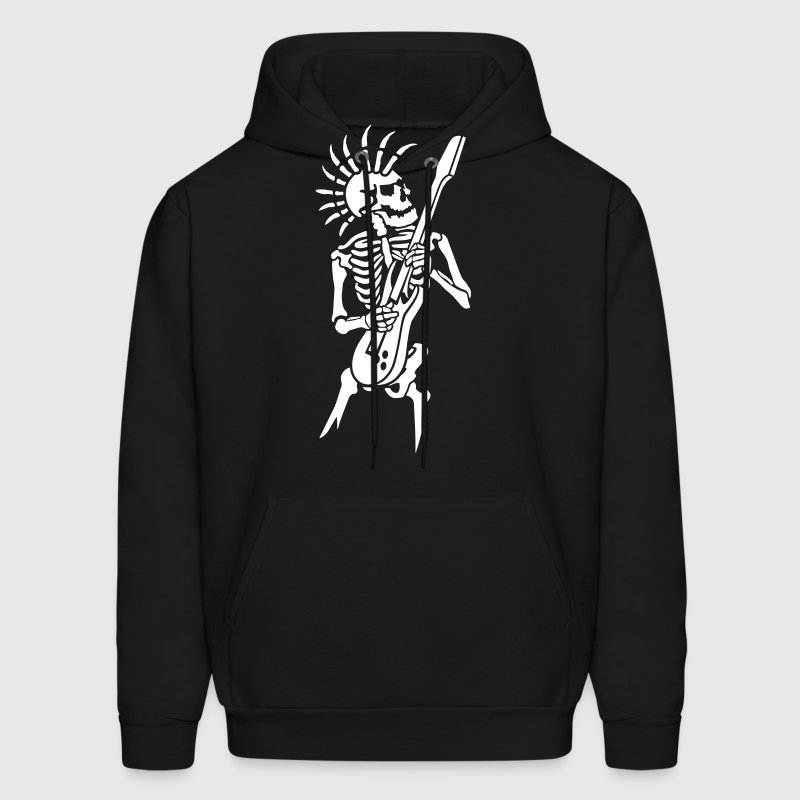 Skeleton with guitar - Men's Hoodie