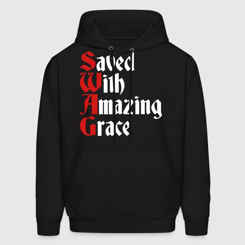 Saved With Amazing Grace (SWAG) - Men's Hoodie