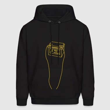 battery, high voltage, low current, high voltage, power, electricity, penis, cock, Member - Men's Hoodie