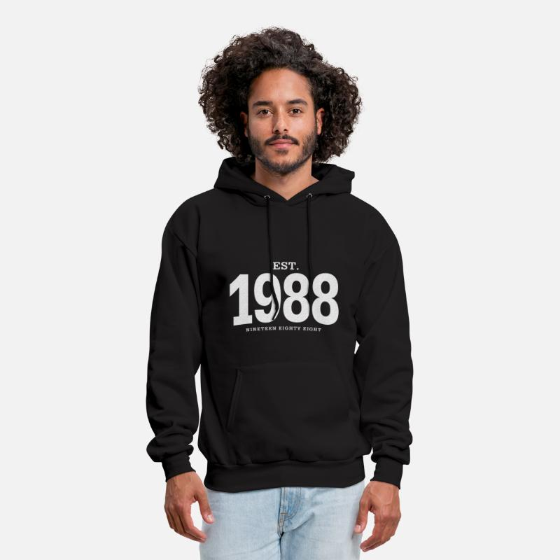 1988 Hoodies & Sweatshirts - est. 1988 Nineteen Eighty Eight - Men's Hoodie black