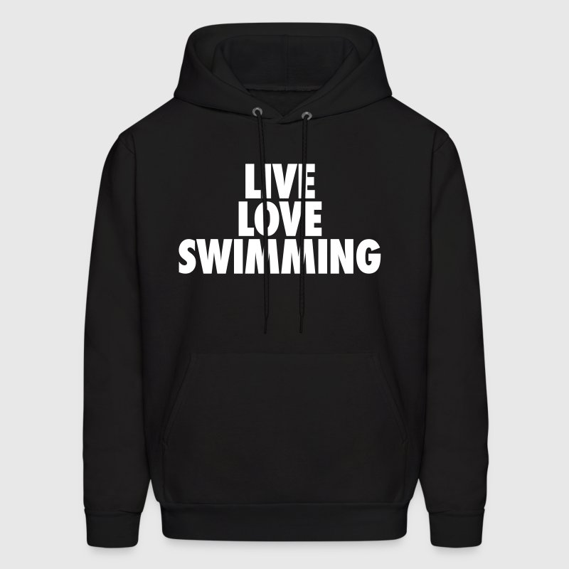 Live Love Swimming - Men's Hoodie
