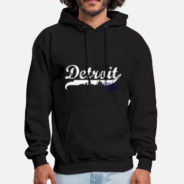 Detroit Detroit City 1701 Founded Michigan Apparel Shirts - Men's Hoodie