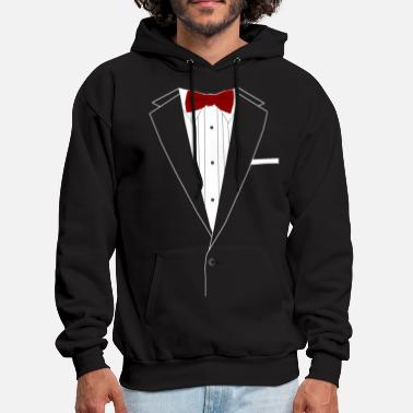 Formal Tuxedo Red Bowtie - Men's Hoodie